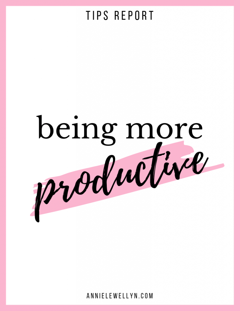 Being More Productive Tips Report