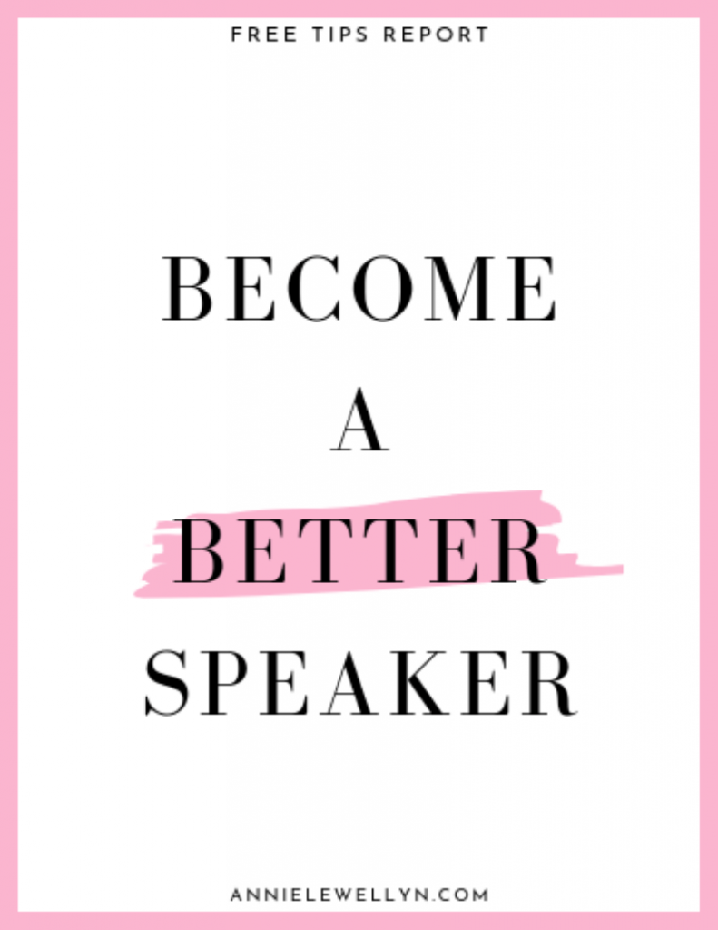Become A Better Speaker Tips Report