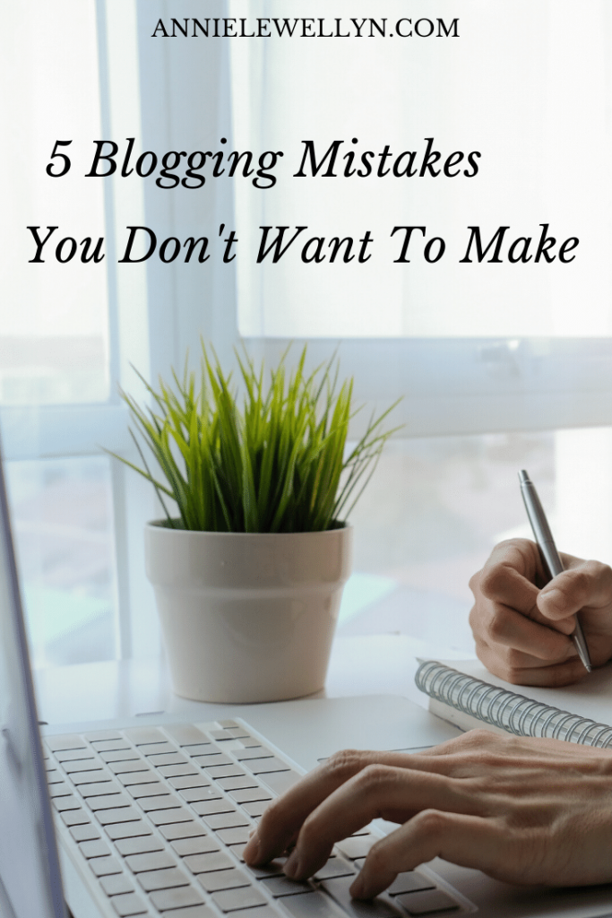 If you're a blogger, especially a new blogger, then you know how difficult blogging can become. By avoiding these 5 common blogging mistakes you can be well on your way to a much more successful blog. Plus you can download my free Blogging Basics E-book!