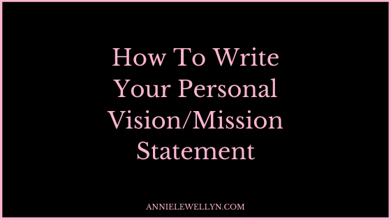 personal vision mission statement